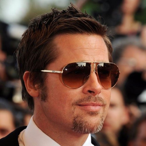 Brad Pitt Hairstyle - Short Hair + Beard