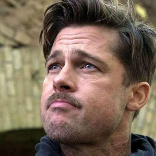 Brad Pitt Inglourious Basterds Hair - Long Comb Over + Short Sides + Beard