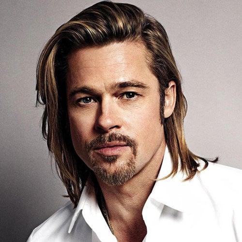 Brad Pitt Long Hair + Beard