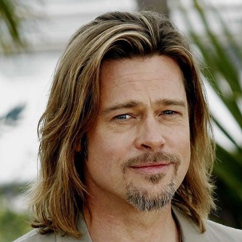Brad Pitt Long Hairstyles + Beard