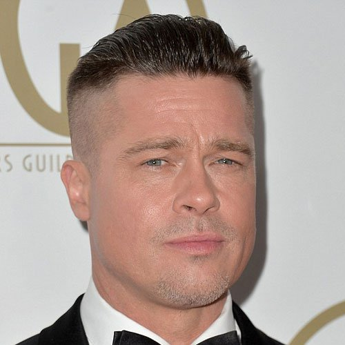 Brad Pitt Slicked Back Undercut