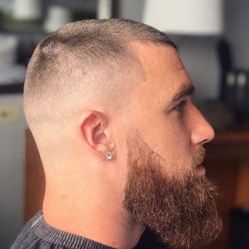 Buzzed Hair and Beard
