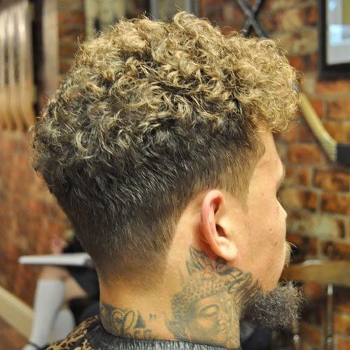 Curly Hair + Taper Fade