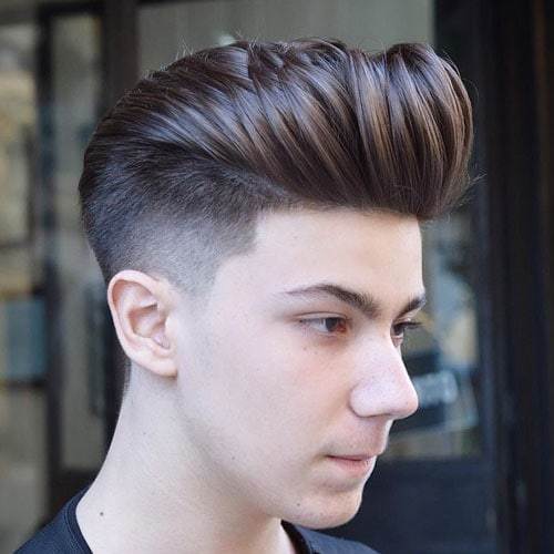 High Taper Fade + Pompadour