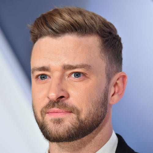 Justin Timberlake Haircut - Low Fade + Ivy League + Beard