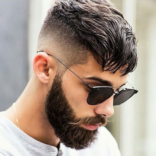Long Crop + High Bald Fade + Full Beard