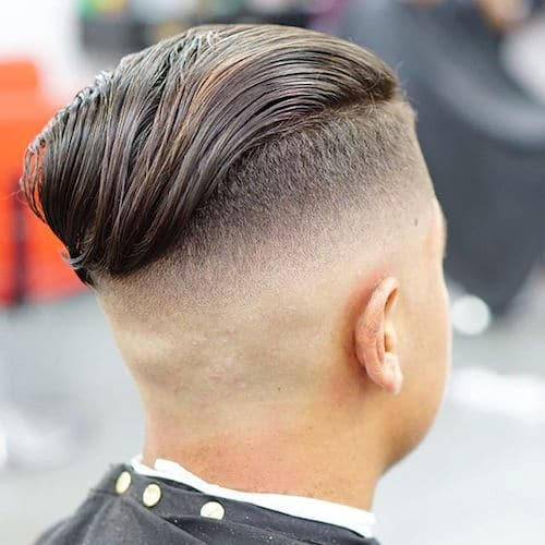 Long Wavy Slicked Back Undercut