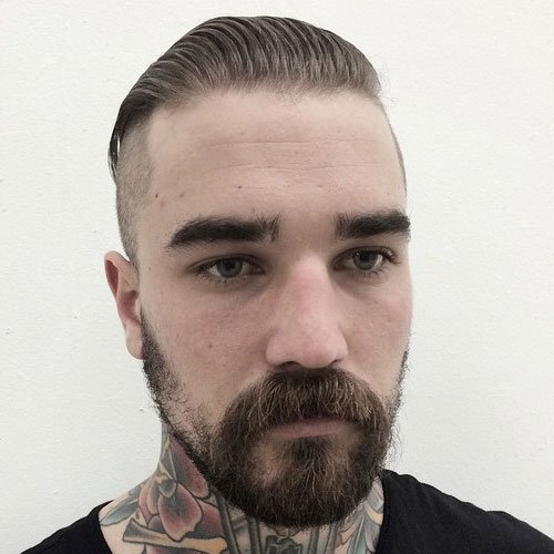 Slick Back Undercut + Beard