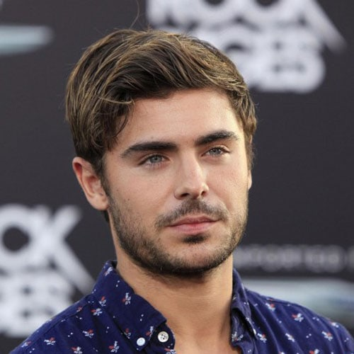 Zac Efron - Long Textured Hair + Beard