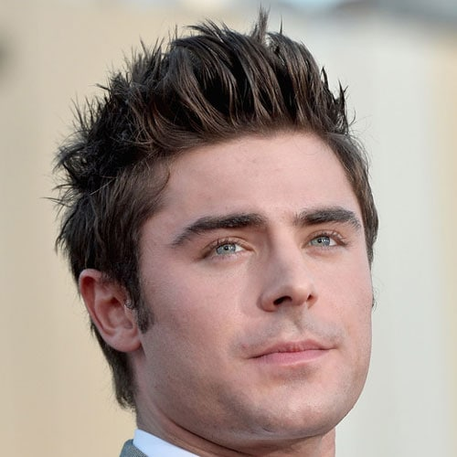 Zac Efron - Thick Textured Spiky Hair + Tapered Sides