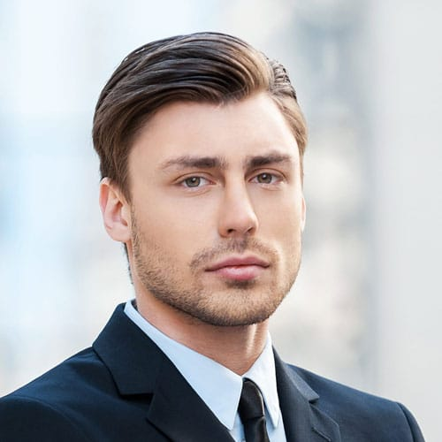 Classic Comb Over Hairstyle For Men