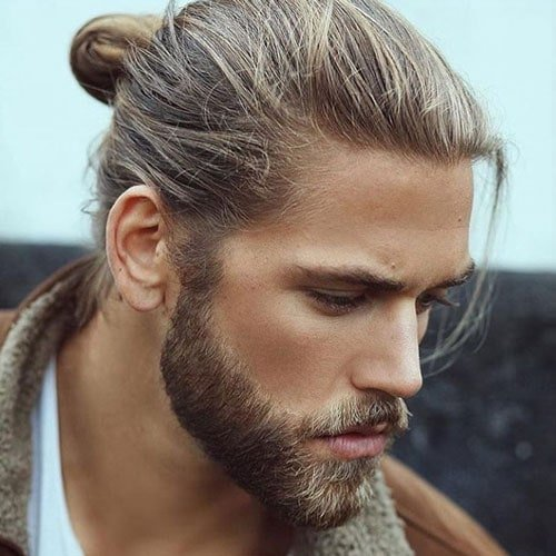 Long Hairstyles For Men - Man Bun