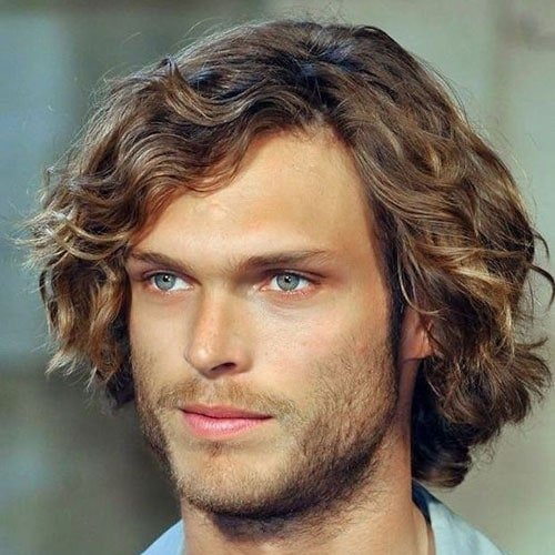 Medium Length Wavy Hairstyle + Beard