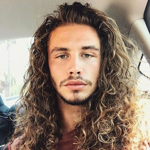 Men's Long Curly Hairstyles
