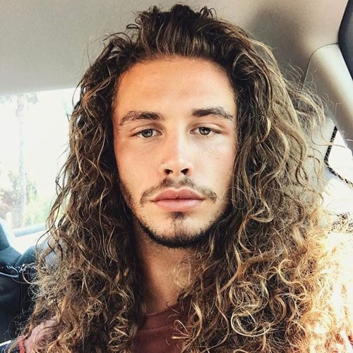 Hairstyles For Men With Curly Hair Long 22