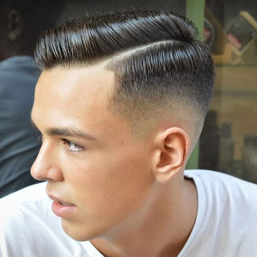 Short Hair Comb Over Fade