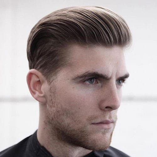 Haircuts For Men with Thick Hair - Slicked Back