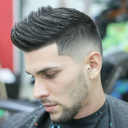 Hairstyles For Guys with Thick Hair - Faux Hawk