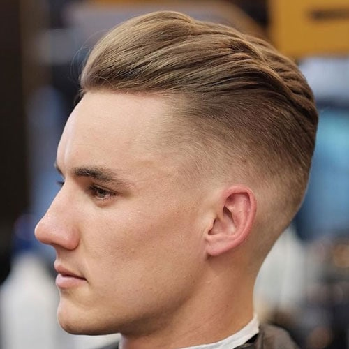 Hairstyles for Long Faces - Undercut Fade + Textured Brush Back