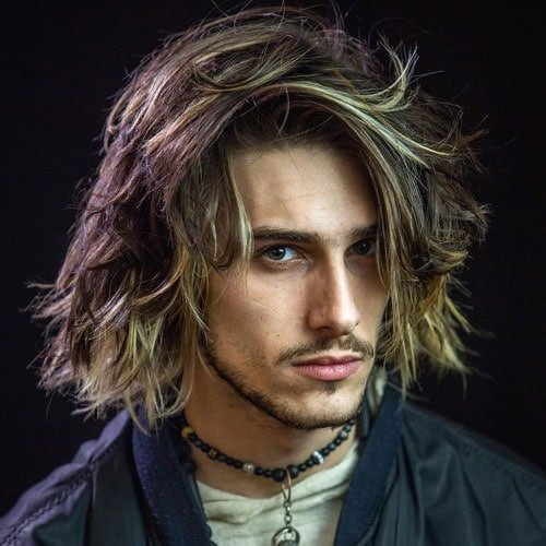 Long Hairstyles For Men With Thick Hair - Shoulder Length Messy Hair