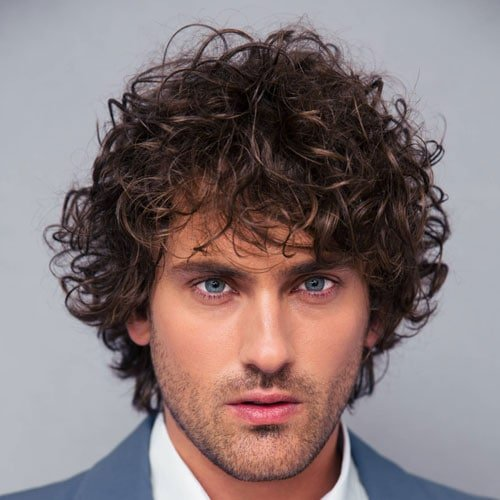 Long Messy Curls For Men