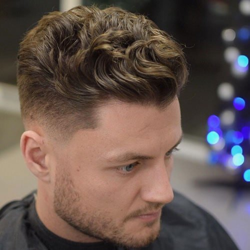 Modern Textured Quiff + Thick Wavy Hair