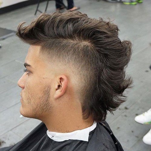 Thick Haircuts - Faux Hawk Fade