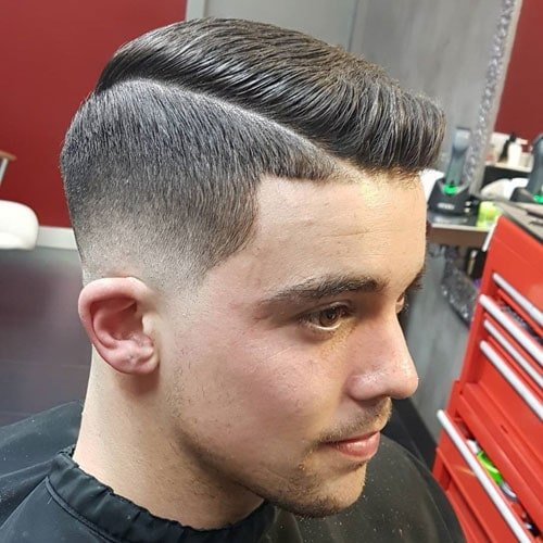 Thick Haircuts - Low Fade Comb Over