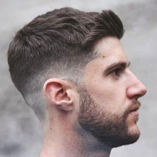 Thick Haircuts - Side Swept Fringe + Crew Cut