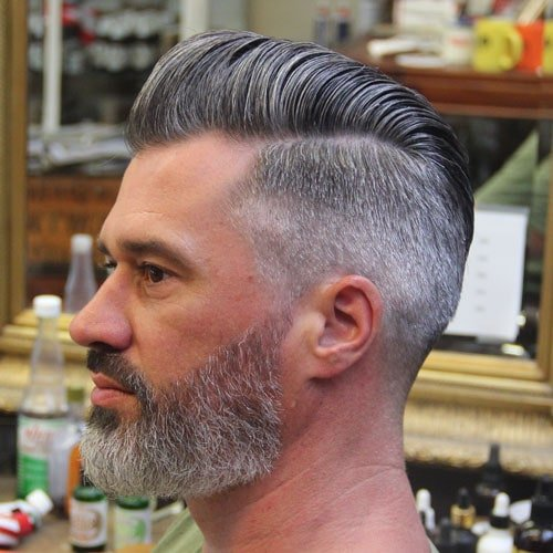 Short Pompadour + High Taper Fade