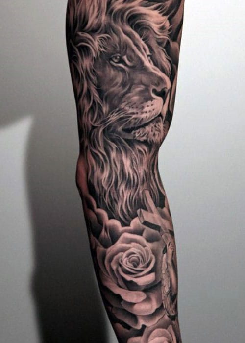 Awesome Full Sleeve Lion Tattoos