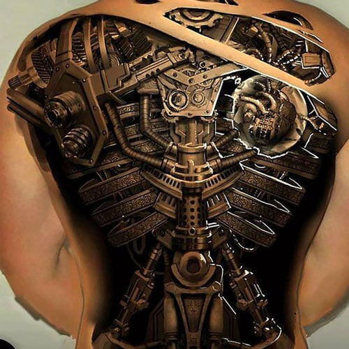 Badass 3D Back Tattoo
