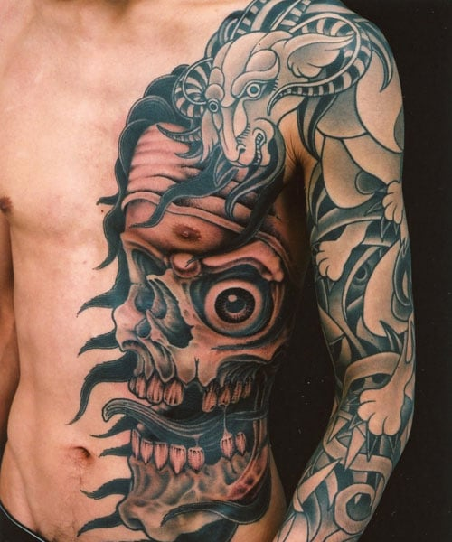 Badass Rib Tattoos For Men