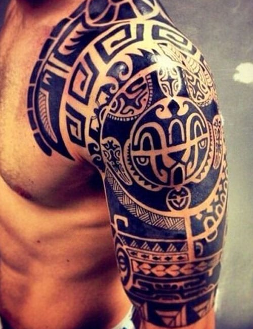 Badass Tribal Shoulder and Arm Tattoos