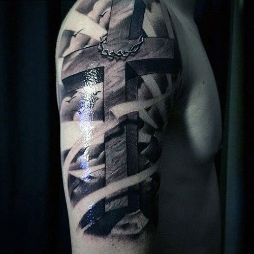 Christian Cross Tattoos für Männer