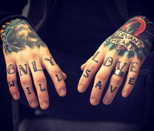 Christian Hand Tattoos For Men