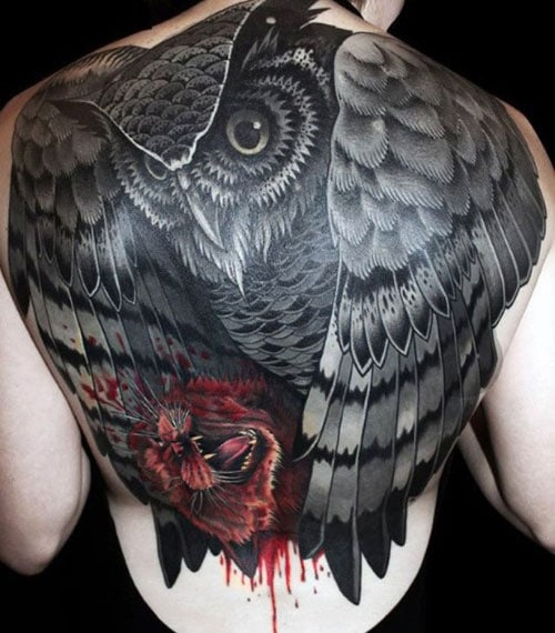 Cool Masculine Back Tattoo Ideas
