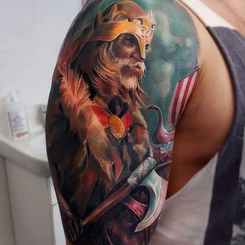 Cool Viking Warrior Tattoos