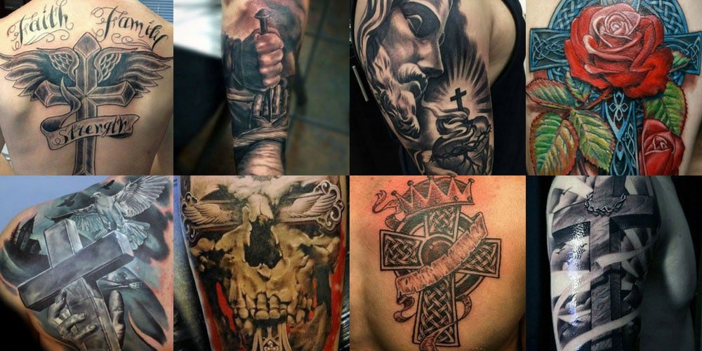 d637f9880b182 101 Best Cross Tattoos For Men: Cool Designs + Ideas (2019 Guide)