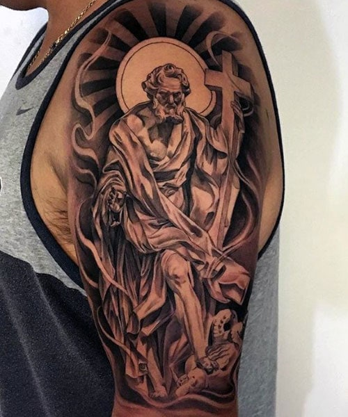 God with Cross Tattoo Designs
