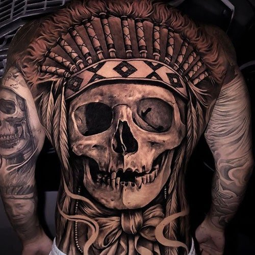 Masculine Back Tattoo Designs