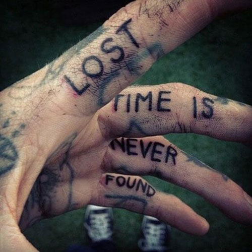 Meaningful Quote Hand Tattoo