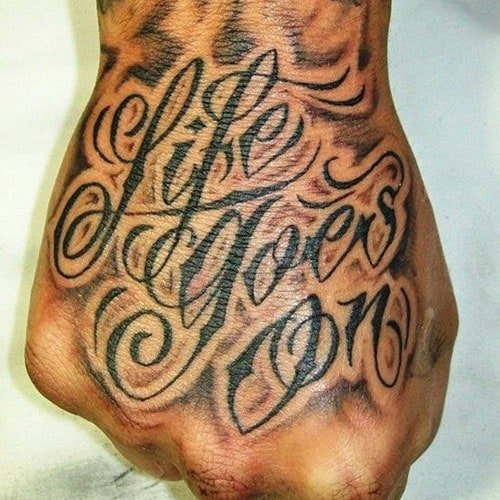 Meaningful Top of Hand Tattoos For Guys