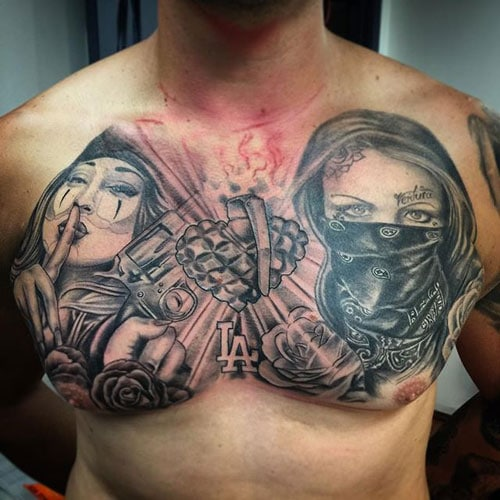 Sick Chest Tattoo Designs For Guys