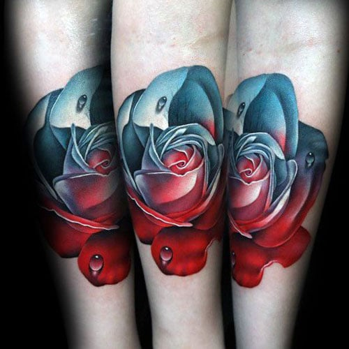 60d0e261bbf28 101 Best Rose Tattoos For Men: Cool Designs + Ideas (2019 Guide)