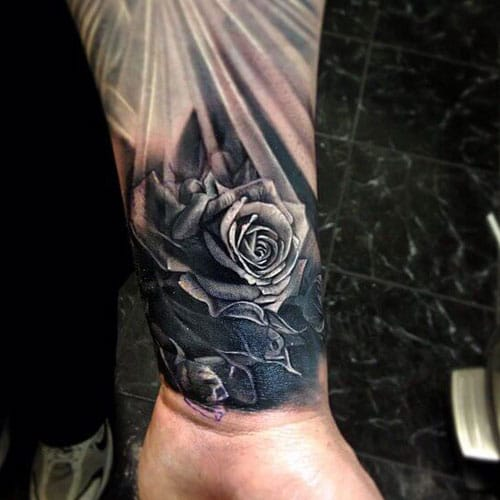 Best Rose Forearm Tattoo