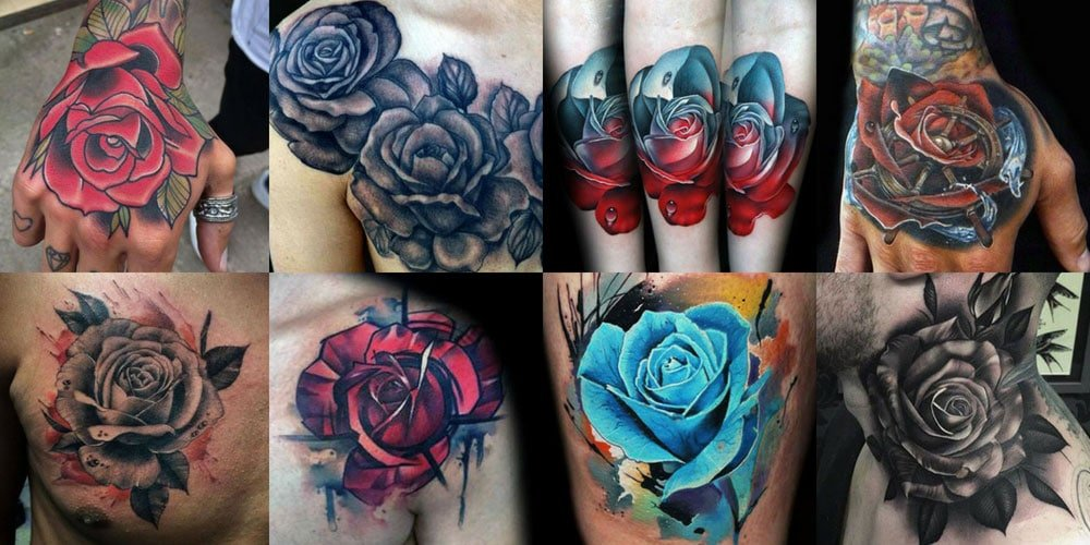 51 rose tattoos for men 2018 men 39 s haircuts hairstyles 2018. Black Bedroom Furniture Sets. Home Design Ideas