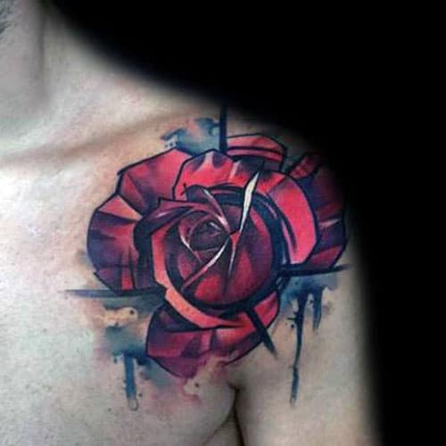 Cool Rose Shoulder Tattoo Ideas
