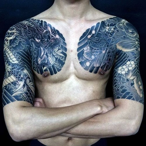 Dragon Chest Tattoos For Guys