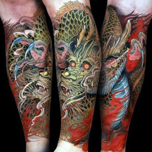 Dragon Forearm Tattoo